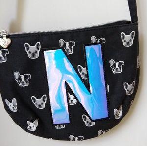 Justice shoulder purse - N and dog